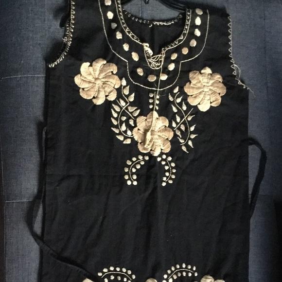 0c7b12b2b3bc MEXICANA Dresses | Black And Gold Mexican Dress | Poshmark